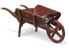 A Victorian wheelbarrow.