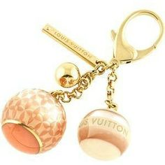 Louis Vuitton Mini Lin Key Ring Bag Charm