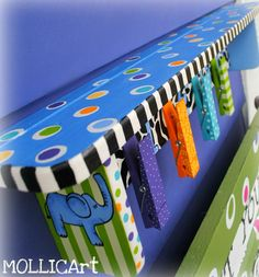 Painted Funky Shelf by MOLLICArt on Etsy