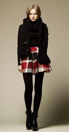 Burberry Blue Label / plaid skirt