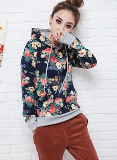 Buy stylish ladies women fashion long sleeve floral pullover spring autumn  hoodie from newdress 3225f699f6c
