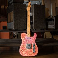 Who are some of your favorite Paisley players? This original Pink Paisley Tele is popping with rad vintage vibes! Vintage Telecaster, Fender Telecaster, Vintage Guitars, Music Den, Leo Fender, Joe Strummer, Guitar Photography, Brad Paisley, Guitar Design
