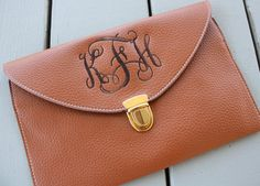 Monogrammed Women's Clutch Purse Crossbody by GladevilleFarmhouse, $28.00
