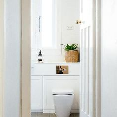 Built In Shelf Over Toilet, Modern, Bathroom