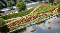 "The Building Centre Presents ""Rethinking the Urban Landscape"",Zigong Dongxingsi. Image © Martha Schwartz Partners #UrbanLandscape"