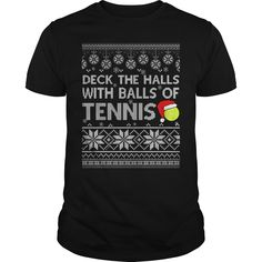 DECK THE HALLS WITH BALLS OF TENNIS tennis hombre, tennis workout, tennis clothes clever fathers day gifts, fathers dag gifts, kids fathers day gift ideas Tennis Funny, Basketball Funny, Tennis Games, Tennis Tips, Serena Williams, Tennis Photography, Tennis World, Tennis Workout, Tennis Quotes