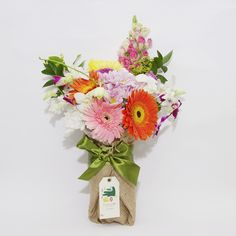 Vivid Garden- A colorful mix of the perkiest flowers available, surprise in the best of forms.