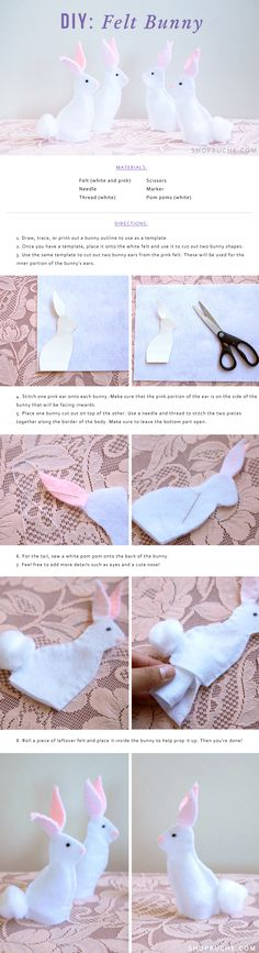 Add a touch of cuteness to your spring table decor with this felt bunny DIY project!