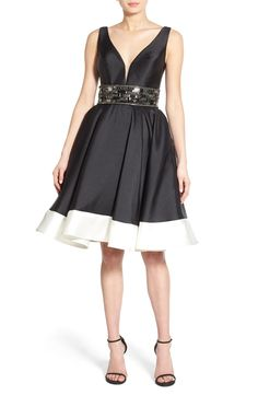 Mac Duggal Embellished Fit & Flare Dress