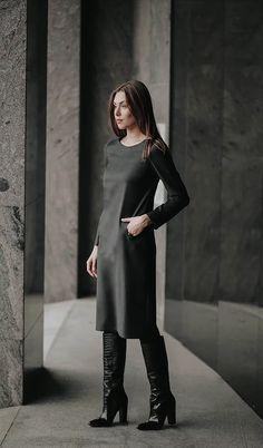 "Suknelė su ""O""kišenėmis   madosbutas Goth, Style, Fashion, Gothic, Swag, Moda, Fashion Styles, Goth Subculture, Fashion Illustrations"