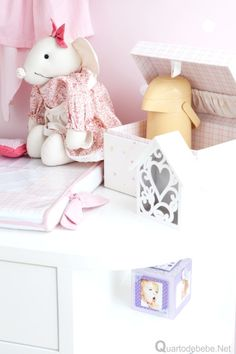 kit higiene bebê rosa