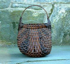 American Early 19th century splint eel basket