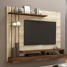 30 TV Stands And Wall Units To Organize And Stylize Your Home - Modern Built In Tv Wall Unit Designs for your home. Tv Unit Furniture Design, Tv Unit Interior Design, Tv Wall Furniture, Lcd Unit Design, Tv Unit Decor, Tv Wall Decor, Wall Decorations, Vintage Tv, Lcd Panel Design