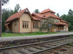 Lusto old railway station, Finland Old Train Station, Train Stations, Scandinavian Countries, Beautiful Buildings, Old Houses, Finland, Cabin, House Styles, Roads