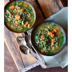 3 Bean-carrot And Spinach Soup // @foodfashionparty. Find this #recipe and more on our Feel Better Feed at https://feedfeed.info/feel-better?img=1459633 #feedfeed