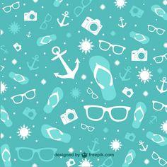 Summer holiday vector pattern Free Vector