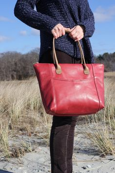 Handmade leather bag. The Cross Country Tote. C.A.S. handmade