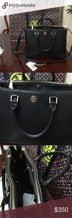 Tory burch Landon multi tote pebbled leather. The bag is barely use and like new condition except for the last pic the bottom edge of the bag which is like a scratch or something or might be already there when i bought the bag not really noticeable i just include in the picture. Tory Burch Bags Totes