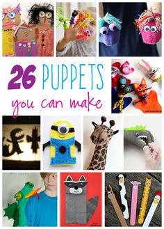 26 kids puppets you can make - Fun Kid Pictures