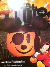 disney mickey mouse pirate gemmy airblown inflatable halloween light up new