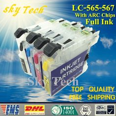 Full ink Refillable cartridge suit for Brother LC565 LC567 , suit for Brother MFC-J2510 , Brother MFC-J2310 ,etc