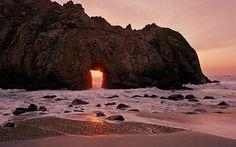10 truly unique beaches - Pfeiffer Big State Beach, Big Sur, California      Purple sand beach