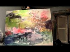 ▶ Dorte Thrane - processen bag et maleri - YouTube
