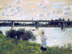 Claude Monet, - Au Pont d'Argenteuil.1874.
