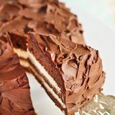 Milo Cake with Condensed Milk Icing & Milo Ganache