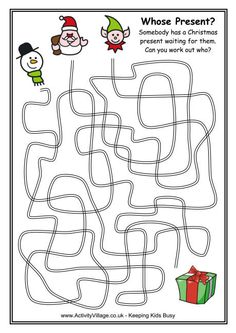 Winter Maze.  Time killer for any kids who finish early.