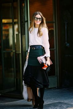 #Olivia Palermo #Modest doesn't mean frumpy. #DressingWithDignity www.ColleenHammond.com www.TotalimageInstitute.com