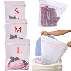 1ピース服洗濯機ランドリーバスケット付きジッパーナイロン洗濯袋ブラ援助ランジェリーメッシュネットウォッシュバッグポーチ