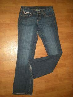 Women's Size 9 Jeans Boot Cut ZCO White Pink Brown Blue Pocket Designs  #Zco #BootCut