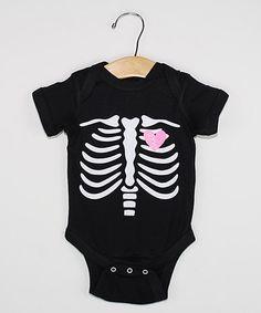 Look what I found on #zulily! Black Skeleton Bodysuit - Infant #zulilyfinds