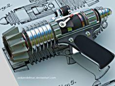 Sonic Ray Gun by Polperdelmar. Digital Art / 3-Dimensional Art / Scenes / Futuristic & Sci-Fi