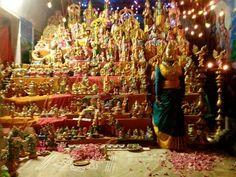Kolu at prathingara temple:-):-)