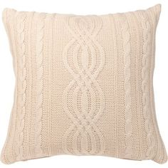 Home Of Style Arran Cushion - Cream - 45x45cm at Homebase -- Be inspired and make your house a home. Buy now.