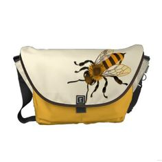 Don't Worry Bee Happy Messenger Bag