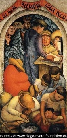 Night of the Poor 1928 - Diego Rivera - www.diego-rivera-foundation.org