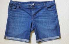 Old navy women plus size 22 rolled cuff denim blue jeans shorts summer | Clothing, Shoes & Accessories, Women's Clothing, Shorts | eBay!