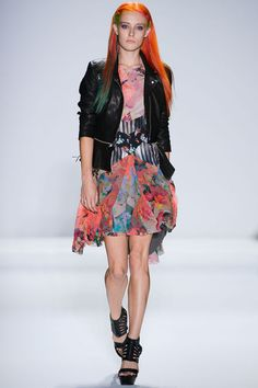Love the removable peplum on that jacket.  #NicoleMiller #NYFW Spring 2013 RTW via Style.com