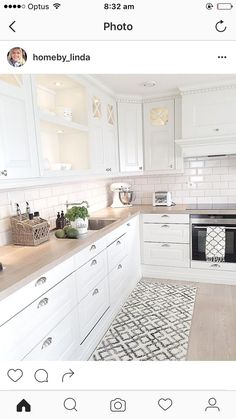 my home - Decoration For Home Cosy Kitchen, Shabby Chic Kitchen, Open Plan Kitchen, Home Decor Kitchen, Kitchen Living, New Kitchen, Home Kitchens, Sweet Home, Cuisines Design