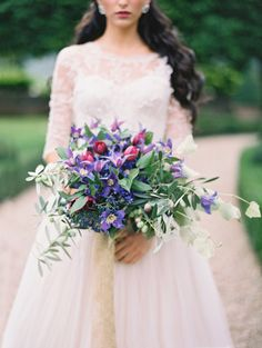 Purple bouquet: http://www.stylemepretty.com/2014/03/26/an-italy-workshop-the-wedding-inspiration/ | Photography: Jose Villa Photography - http://josevillablog.com/