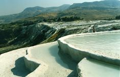 Pamukkale, with pools of water from hot springs