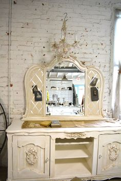 Painted Cottage Chic Shabby French Mirror MR37