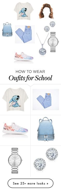 """""""School """" by whotiera on Polyvore featuring Levi's, NIKE, MICHAEL Michael Kors, Kobelli and Marc by Marc Jacobs"""