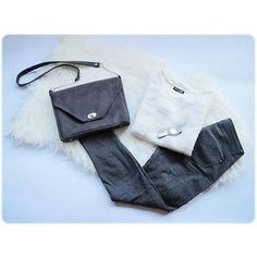 #miss_s_design #new #handmade #grey #suede #bag #fashion #style #trend #ootd #white #pullover #potd #lotd #stylish #vscocam