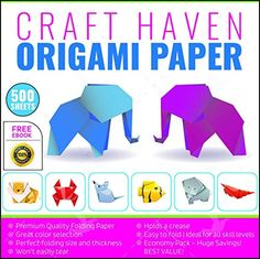 Craft Haven 6-Inch-by-6-Inch Origami Paper with Double and Single Sided Sheets, 25 Colors and E-book Tutorial, Large (500-Pack) *** Read more reviews of the product by visiting the link on the image.