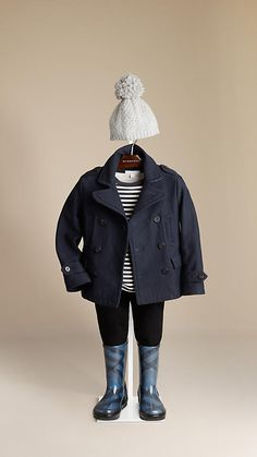 Burberry - COTTON JERSEY PEA COAT