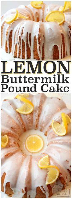 Lemon Buttermilk Pound Cake is a classic pound cake recipe with the addition of fresh lemon! Buttermilk gives this Lemon Pound Cake a wonderful texture and everyone loves the bright flavor of the lemon glaze. It's the perfect pound cake! Lovely, elegant #Lemon #buttermilk #poundCake #cake #recipe from Butter With A Side of Bread #dessert #bundtcake #lemonrecipe #lemoncake #food #homemade
